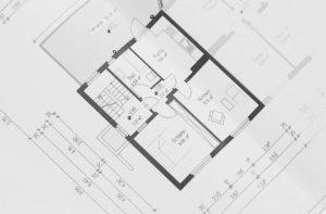 illustration d'un plan de maison réalisé par un architecte