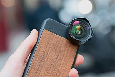 photo d'un objectif externe pour smartphone